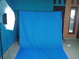 Backdrop/background foto biru muda ukuran 3mx6 m