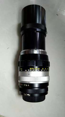 lensa nikon manual 200mm f4 jadul vintage antik lawas kuno rare