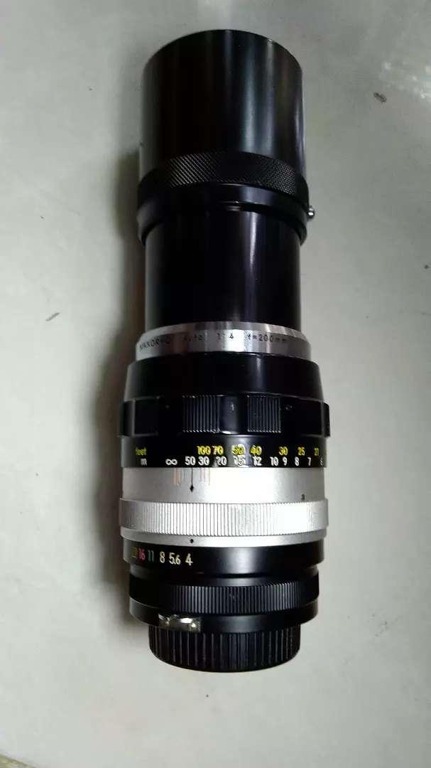 lensa nikon manual 200mm f4 jadul vintage antik lawas kuno rare 0