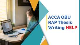 Thesis Writing Service - ACCA OBU RAP- Proofreading & Editing Help.