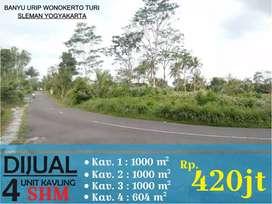 Tanah luas di Wonokerto Turi Pakem cocok untuk gudang Home stay