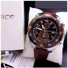 Refurbished edifice leather watch CASH ON DELIVERY price negotiabl hry