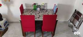 Dining table with chairs original wooden