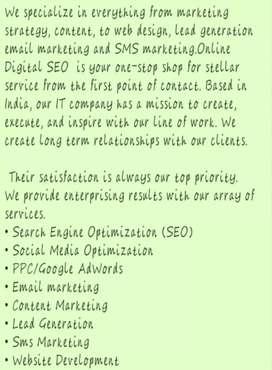 Website design and development Digital marketing