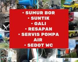 Sedot wc saluran mampet ahli sumur bor suntik gali servis pompa air