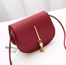 Women Fashion PU Leather Solid Hasp Shoulder Bags