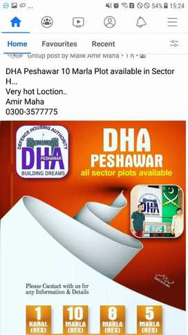 DHA Peshawar 10 Marla Plot available in Sector H..