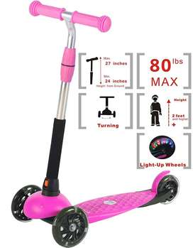 3 Wheel Micro Scooter Adjustable Height Mini Kick Scooter For Boys Gir