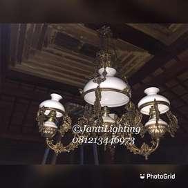 Lampu gantung antik klasik hias joglo pendopo sinom gazebo