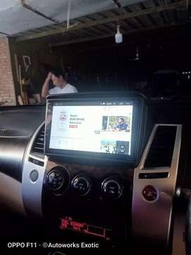 Hu android pajero 9inc dhd plus frame