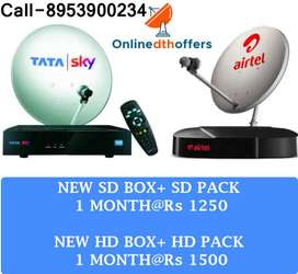 AIRTEL TATASKY Dish Tata sky DTH Offers With Free Installation in 4 hr