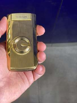 Tkexun gold color flip phone screen is also touch