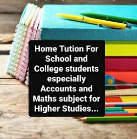 MATHS AND ACCOUNT TUTION