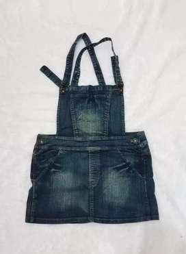 PRELOVED - Overall Skirt Jeans