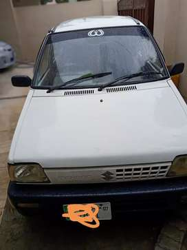 White Mehran 2007 rear notch class Lahore registered almost  geniun