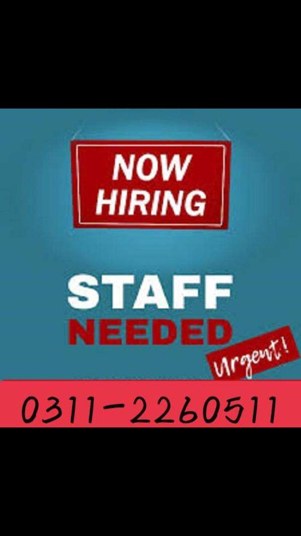 Need staff for online job 0