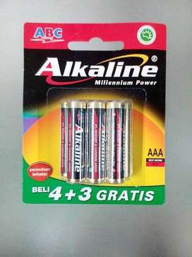 Baterai ABC Alkaline AAA A3 7pcs Original