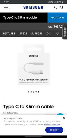 Samsung c type audio jack