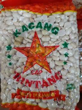 Kacang Tanah Kupas BINTANG @ 1 kg-isi 2 pack (2 kg)-Baru