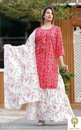 Beautiful kurti skirt and dupatta