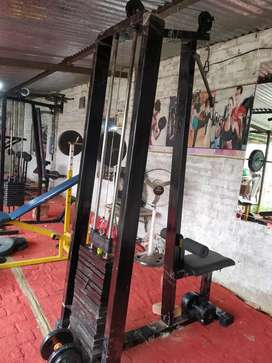 New gym with iron plet machine