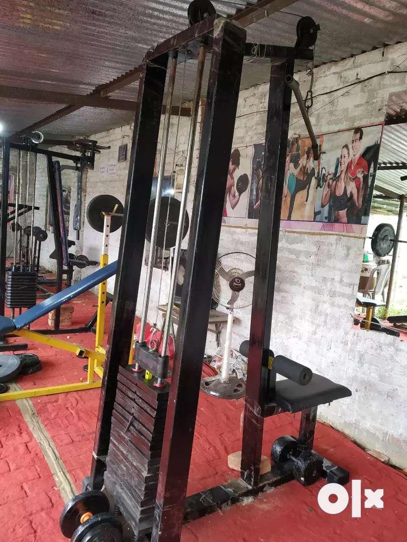 New gym with iron plet machine 0