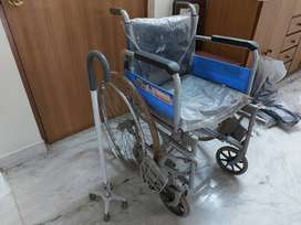 Vissco wheelchair deluxe with spoke wheels Rs.3500.