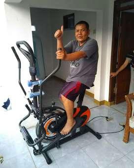 Sepeda fitnes orbitrek 6 fungsi terbaru ( free ongkir dan gratis rakit