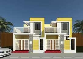 आमानाका से 1/2 Km ,कोटा रायपुर में 700 sq फ़ीट में डुप्लेक्स मकान बनाके