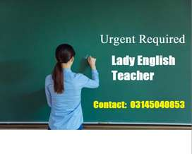 Female English teacher required