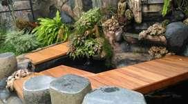 Decking kayu/lantai kayu/pagar kayu/tangga kayu/plafon kayu/kisikisi