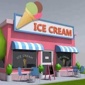 Ice cream shake maker and shop duty