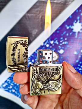 Korek api gas model Zippo harley davidson gold