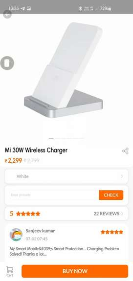Mi 30W wireless charger, less than a month old with box