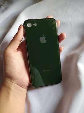 Soft case iphone 7 8 X Xs premium berlapis kaca tempered glass mewah
