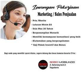 Dicari Marketing / Sales Penjualan mobil bekas