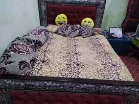 Double bed and dressing table in good condition