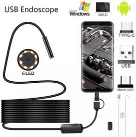 USB Endoscope Inspection 3 in 1 Borescope Camera