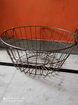 Steel Utensil stand and Basket Used new