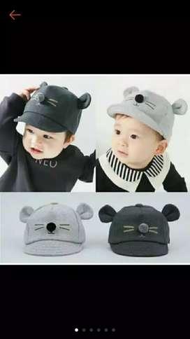 Topi kumis kucing/topi hits/topi anak