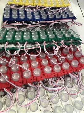 Lampu led Kolong Modul Strip HPL Variasi Lensa 3 mata Besar 3Watt 12V