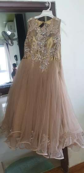 Party wear brown gown for sale