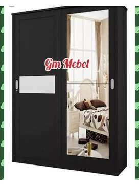 GM MEBEL Lemari Pakaian Sliding 2 Pintu
