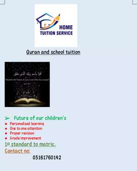 home tuitioning and quran
