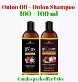 Onion Hair oil and Shampoo with combo 270Rs