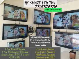 NC Smart LED TV's with GST Bill Indian Made Brand with Warranty