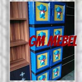 GM MEBEL Lemari Plastik Full Kunci