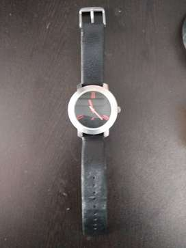 Fastrack 3120SSC BLACK DIAL BLACK LEATHER STRAP WATCH 3 years old