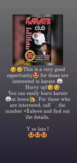 Home tuition for karate classes