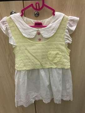Dress anak semi korean style size 1-2thn